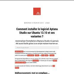 Comment installer le logiciel Aptana Studio sur Ubuntu 13.10 et ses variantes ? - Le blog de Jonathan Linat