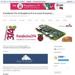 Installer Owncloud sur Raspberry Pi