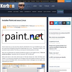 Installer Paint.net sous Linux
