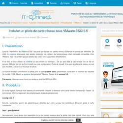 Installer un pilote de carte réseau sous VMware ESXi 5.5