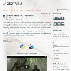 Installer Python et GDAL sous Windows