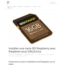 Installer une carte sd Raspberry Raspbian Linux