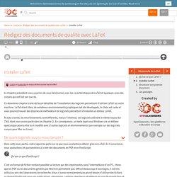 Installer LaTeX - Rédigez des documents de qualité avec LaTeX
