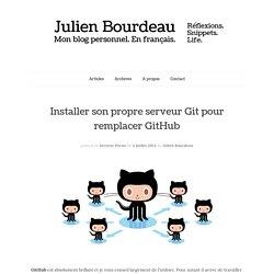 Installer son propre serveur Git pour remplacer GitHub - Blog personnel de Julien Bourdeau