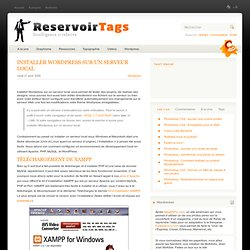 Installer Wordpress sur un serveur local | ReservoirTags