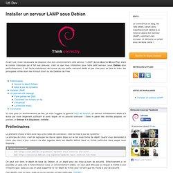 Installer un serveur LAMP sous Debian