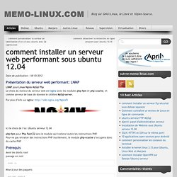 comment installer un serveur web performant sous ubuntu 12.04