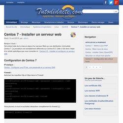 Centos 7 - Installer un serveur web - Tutodidacte.com