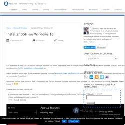 Installer SSH sur Windows 10