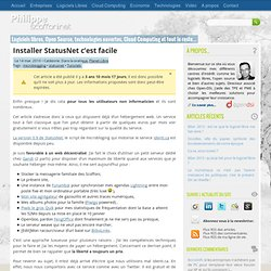 Installer StatusNet c'est facile – Philippe Scoffoni
