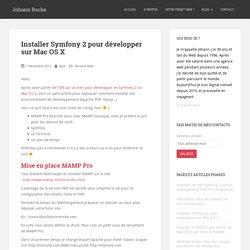 Installer Symfony 2 pour développer sur Mac OS X