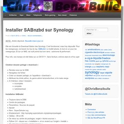 Installer SABnzbd sur Synology