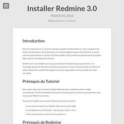 Installer Redmine 3.0 – Sysadmin & Intégration