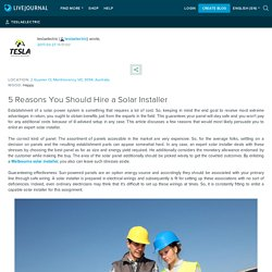 5 Reasons You Should Hire a Solar Installer: teslaelectric