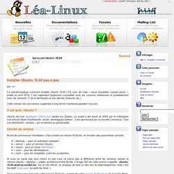 Installer Ubuntu 16.04 — Lea Linux