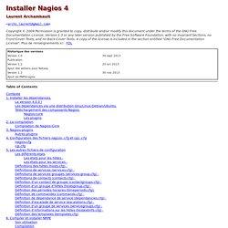 Installer et utiliser Nagios 4.0.x