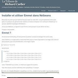 Installer et utiliser Emmet dans Netbeans – La tribune de Richard Carlier