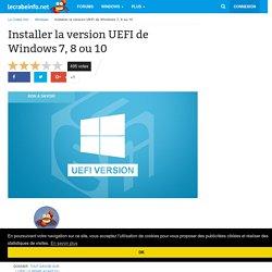 Installer la version UEFI de Windows Vista, 7 ou 8