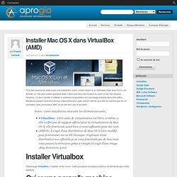 Installer Mac OS X dans VirtualBox (AMD)