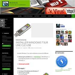 installer windows 7 sur clé usb