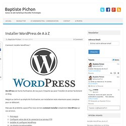 Installer Wordpress de A à Z