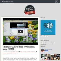 Installer WordPress 3.0 en local avec MAMP