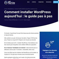 Installer WordPress comme un Pro : la Marmite vous montre tout ✅