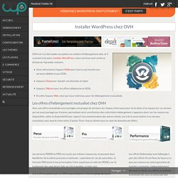 Installer WordPress chez OVH
