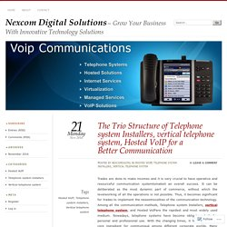 The Trio Structure of Telephone system Installers, vertical telephone system, Hosted VoIP for a Better Communication