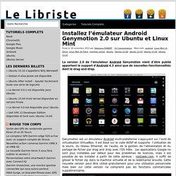 Installez l'émulateur Android Genymotion 2.0 sur Ubuntu et Linux Mint