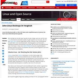 Linux installieren: Zehn Linux-Desktops im Vergleich
