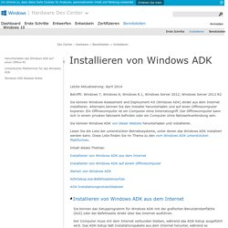 Installieren von Windows ADK