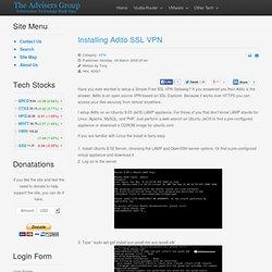 Installing Adito SSL VPN
