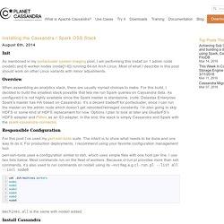 Installing the Cassandra / Spark OSS Stack
