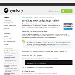 Installing and Configuring Symfony (The Symfony Book)