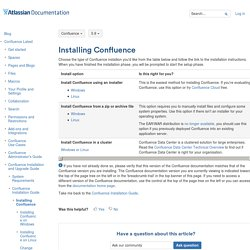 Installing Confluence