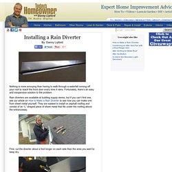 Installing a Rain Diverter