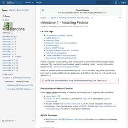milestone 1 - Installing Fedora - Islandora Documentation