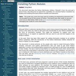 Installing Python Modules