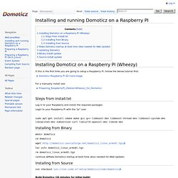 Installing and running Domoticz on a Raspberry PI - Domoticz