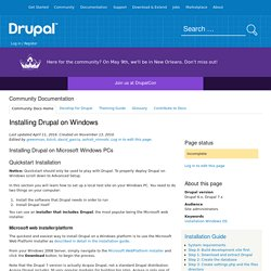 Installing Drupal on Windows