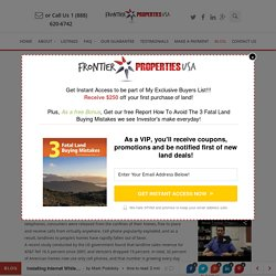 Installing Internet While Owning Rural Land - Frontier Properties USA