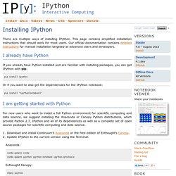 Installing IPython — IPython