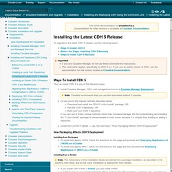 Installing the Latest CDH 5 Release