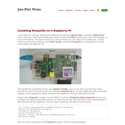 Installing Mosquitto on a Raspberry Pi