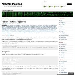 Redhat 6 – Installing Nagios Core