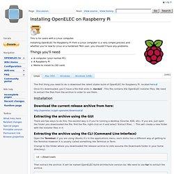 Installing OpenELEC on Raspberry Pi