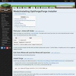 Mods/Installing OptiForge/Forge Installer – Minecraft Wiki