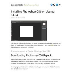 Installing Photoshop CS6 on Ubuntu 14.04