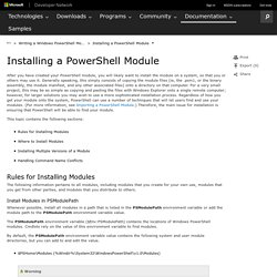 Installing a PowerShell Module